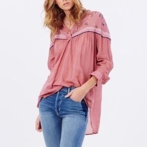 NWT Free People Hearts and Colors Shirt